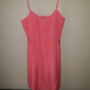 NWT J. Crew coral color dress with pockets.